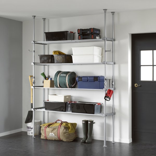 Utility 4 shelf, adjustable