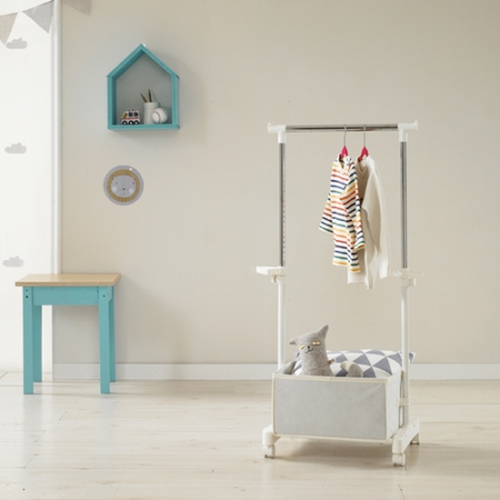 nursery rolling clothes rack