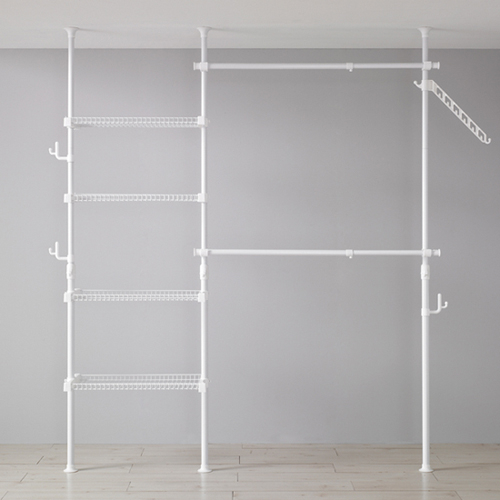 Reach in 3 pole, shelf/hanger ftc set