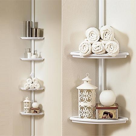 Bathroom corner pole Shelf